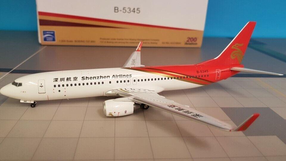 Aviation 200 Boeing 737-800 Shenzhen Airlines B-5345 ref  AV2738002
