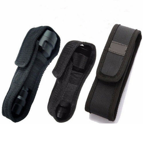 LED Flashlight Torch Lamp Light Holster Holder Carry Case Belt Pouch Ny aa