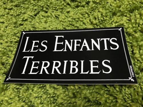 Supreme F//W 2012 Les Enfants Terribles  Sticker Box Logo Red White Black Set