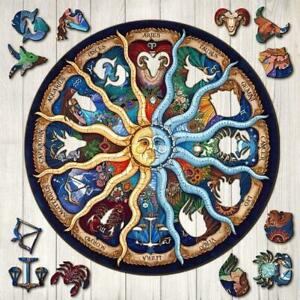 New Wooden Zodiac Puzzle Jigsaw Pieces Kids Adult Educational Gifts Toy