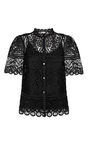 Temperley 4 Titania London Uk £450 Lace 8 Top Us Bnwt Black Rrp pWBOBz