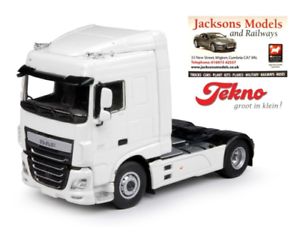 Tekno 64555 DAF XF Space Cab 4x2 Tractor Unit Plain White 1 50 Scale