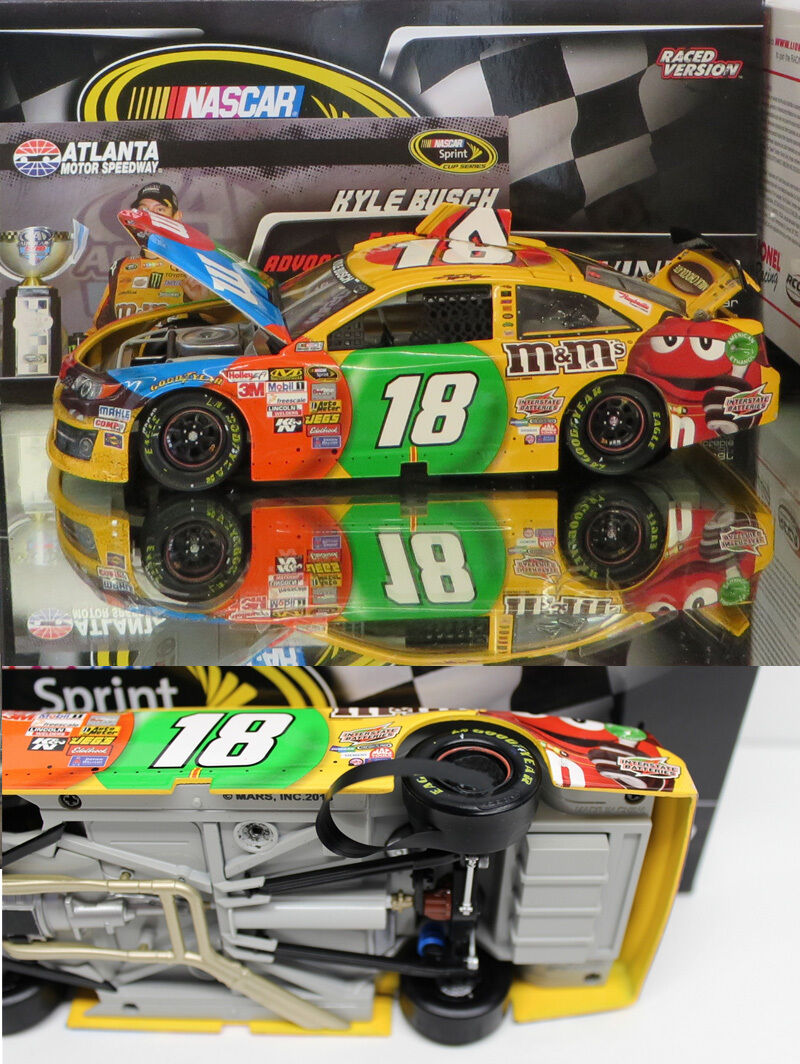 KYLE BUSCH 2013 ATLANTA WIN RACED VERSION M&M'S 1 24 SCALE ACTION DIECAST