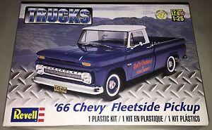 Revell-039-66-Chevy-Fleetside-Pickup-Truck-1-25-scale-plastic-model-kit-new-7225
