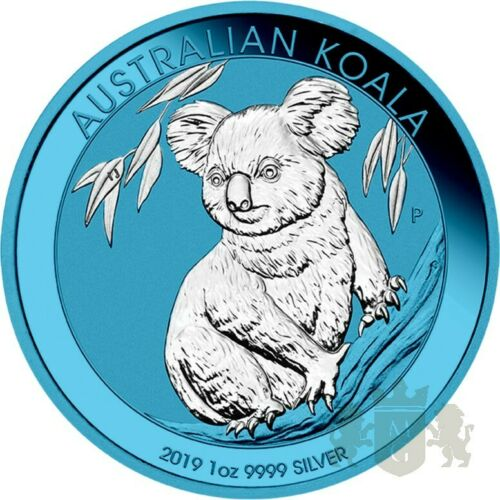 1$ KOALA SPACE BLUE 1 OZ AG 9999 2019 AUSTRALIA