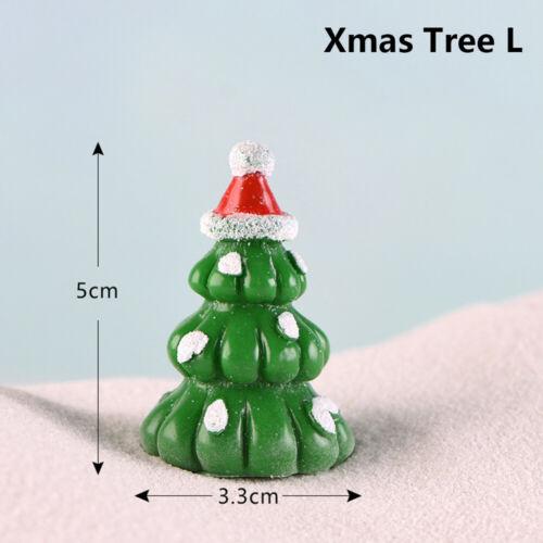 Landscape Santa Claus Figurines Xmas Tree Christmas Accessory Miniature Snowman