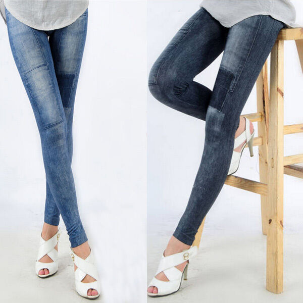Women Denim Jeans Sexy Skinny Leggings Jegging Stretch Pants Trousers New