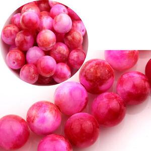 Natural Red & Rose Persian jade Stone Gemstone Round Spacer Loose Beads 6/8/10MM