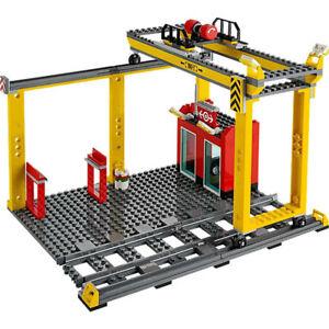 Lego-City-Cargo-Freight-Train-Railway-Yellow-Overhead-Crane-from-Set-60052-NEW