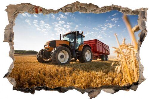 Traktor Trecker Feld Landwirtschaft Wandtattoo Wandsticker Wandaufkleber D2142