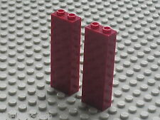 Mur LEGO Harry Potter DkRed bricks ref 2454 / Sets 8759 8624 8781 & 10132