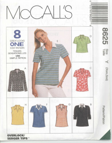 McCall/'s 8625  Misses/' Tops  Sewing Pattern