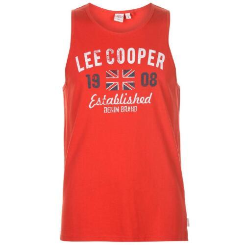 Lee Cooper Herren Ärmelloses T-Shirt Tshirt Tank Top Weste Vest Fitness 0010