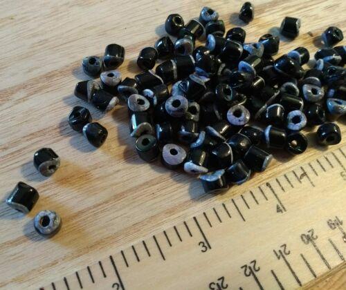7 mm Environ 100 colorés noir-vintage nacre perles
