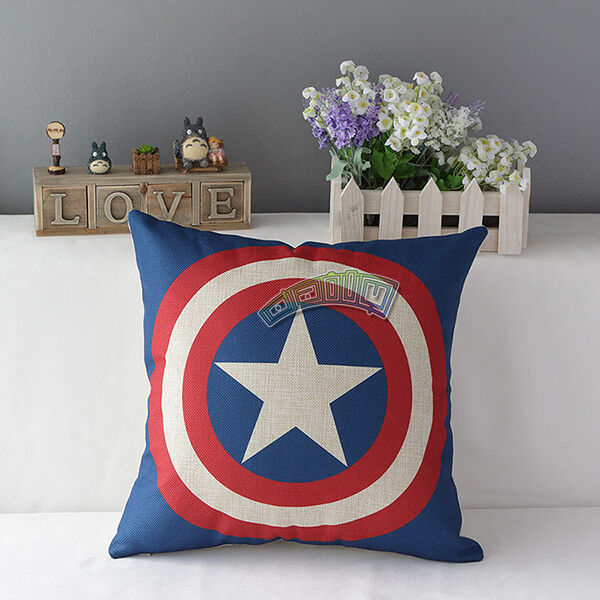 New Cotton Linen Justice League Hero Throw Pillow Case Cushion Cover Decorative