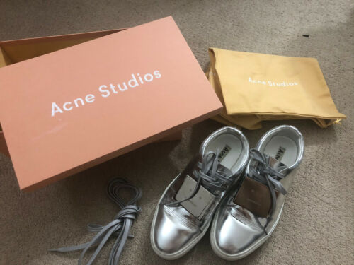 Pre Owned Acne Studios Adriana Sneakers Shoes Silv