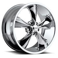 Staggered Foose F105 Legend 17x8,17x9 5x4.75 +1mm Chrome Wheels Rims on sale
