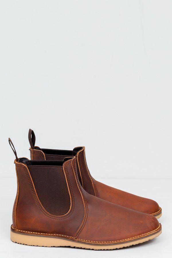 RED WING WEEKENDER CHELSEA BOOT SIZE 10.5  COPPER ROUGH&TOUGH MADE IN  A 3311