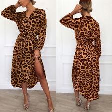 701227de4def item 1 Women Leopard Print Deep V-Neck Long Sleeve Midi Party Maxi Dress  Club Wear Sexy -Women Leopard Print Deep V-Neck Long Sleeve Midi Party Maxi  Dress ...