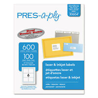 Pres-a-ply Laser Address Labels 3 1/3 X 4 White 600/box 30604 on Sale