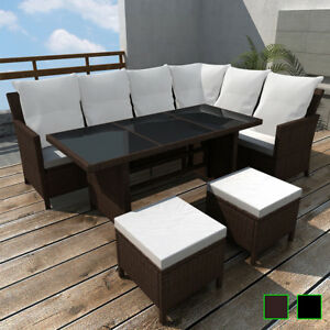 vidaXL-Outdoor-Dining-Lounge-Set-16-PCS-Rattan-Wicker-Patio-Garden-Sofa-2-Colors