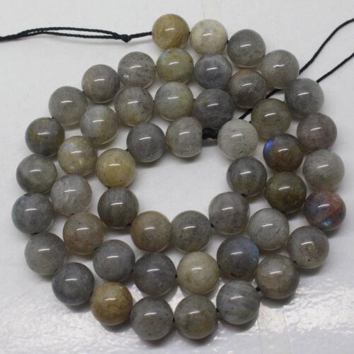 "Natural 6mm Labradorite Round Gemstone Jewelry Making DIY Beads 15/"""