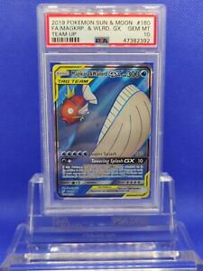 Magikarp-amp-Wailord-GX-Full-Art-PSA-10-GEM-MINT-2019-SM-Team-Up-160-Pokemon