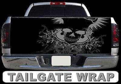 T23 SKELETON SKULL Tailgate Wrap Vinyl Graphic Decal Sticker LAMINATED
