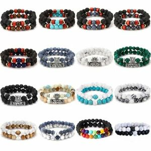 2PCS-Natural-Stone-Bead-Bracelet-Unisex-Men-Women-Turquoise-Bangle-Jewelry-Gift