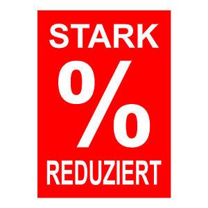 Werbeplakat Stark Reduziert Din A4 Preisschilder Rahmenplakate