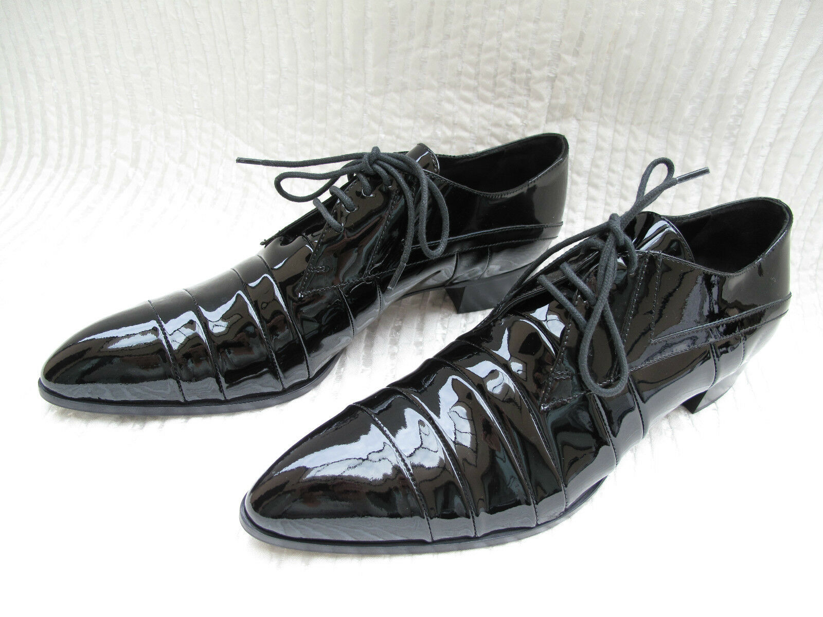Original Miu Miu Damen Schuhe Echt Leder Lack schwarz Gr 37,5 NEU!