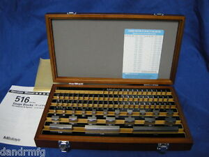 NEW-MITUTOYO-81pc-STEEL-RECTANGULAR-GAGE-GAUGE-BLOCK-SET-GRADE-2-516-902-12