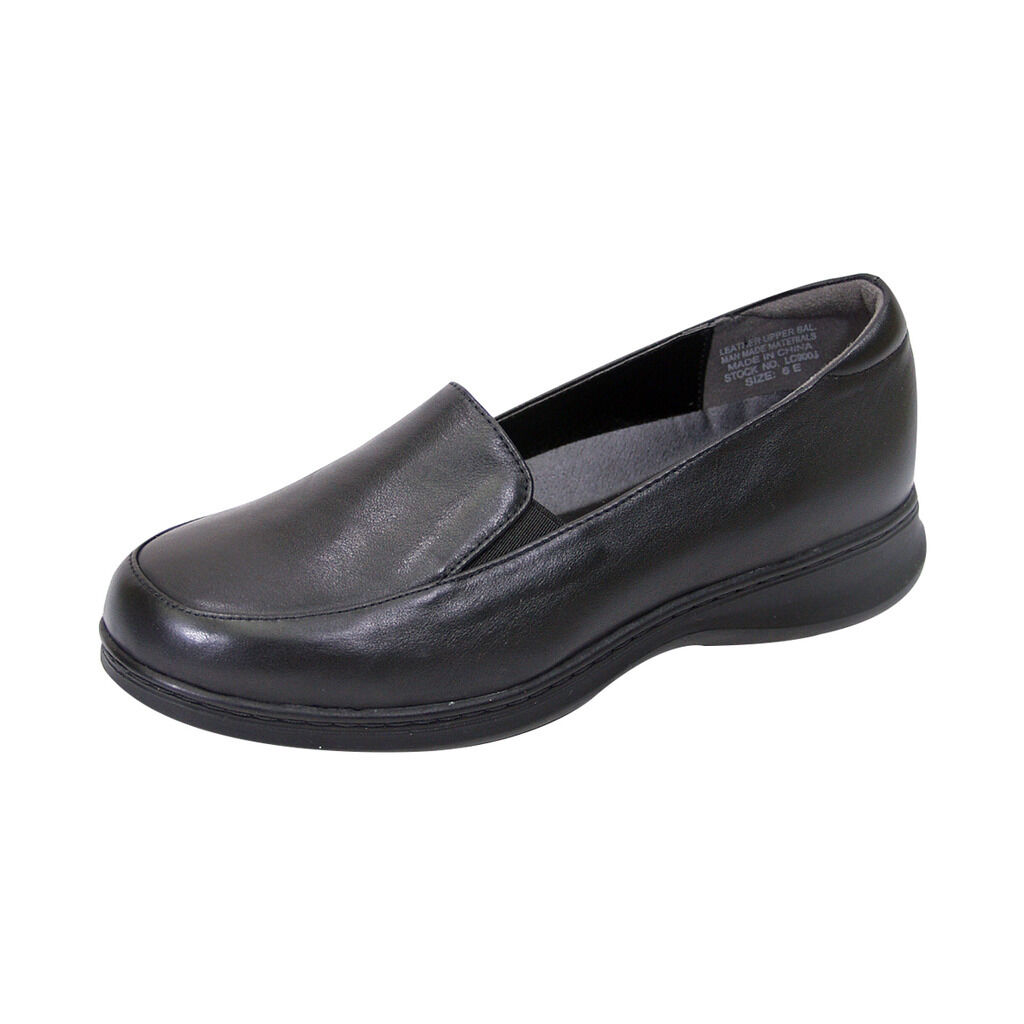 FIC PEERAGE Olivia Women Adjustable Wide Width Leather Comfort Everyday Loafer