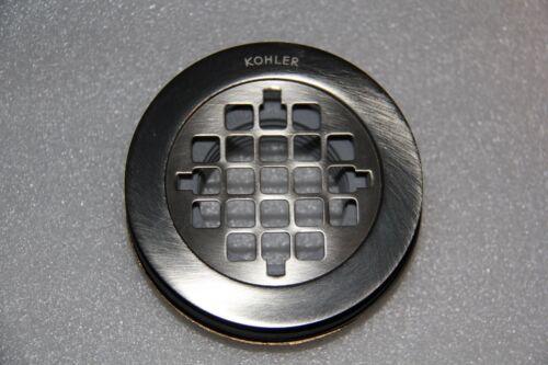 Brushed Nickel NEW Kohler K-9132-BN Round Shower Drain w//Grid Strainer