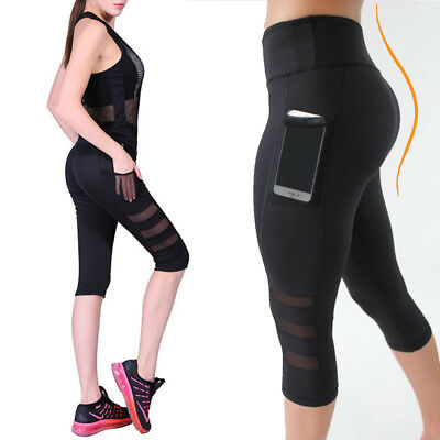 UK Womens Sports Compression Butt Lift Gym Leggings Ladies Running Yoga Pants