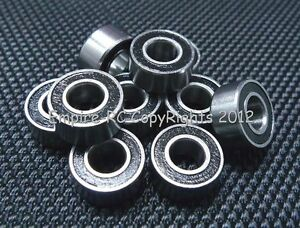 685-2RS 5*11*5 5x11x5 mm Rubber Sealed Lot 10 PCS Ball Bearings BLK