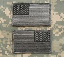 USA AMERICAN FLAG REVERSE LEFT RIGHT SHOULDER ACU DARK VELCRO® BRAND 2 PATCHES