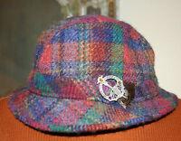 Vintage hats Of Ireland Castlebar Wool Donesal Tweed Hat / Pin (m)