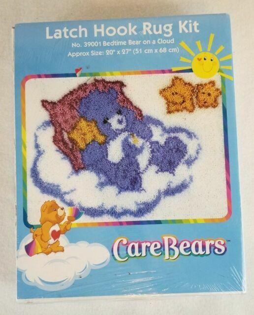 Bedtime Bear on Cloud Latch Hook Rug