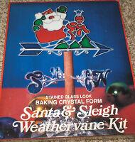Eze Form Christmas santa & Sleigh Weathervane Plastic Baking Crystal Kit Nip