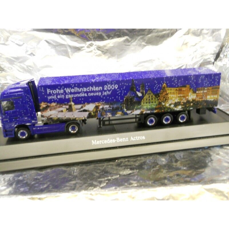 Herpa 294539 Mercedes Benz Actros LH Box Semitrailer Christmas 2009 1 87