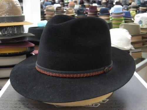 PANIZZA BLACK FUR FELT FEDORA DRESS HAT