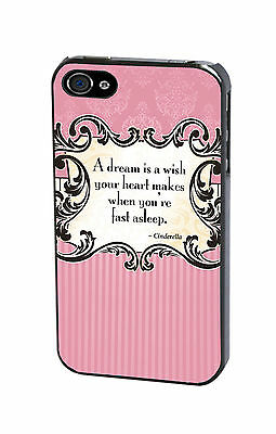 Disney Cinderella Quote Princess Case Cover for iPhone Samsung & iPod