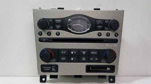 2007 2008 G35 OEM AC Heater switch panel radio face plate w//navigation 07 08