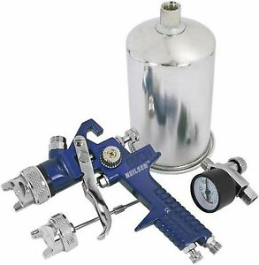 HVLP-Gravity-fed-Spray-Gun-Set-with-1-4-mm-amp-2-mm-Nozzles-amp-Regulator