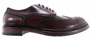 Men's Shoes Pantanetti Men's Shoes 11941e Bisonte Brown Brogue 890 Marrone Leather New Italy Last Style