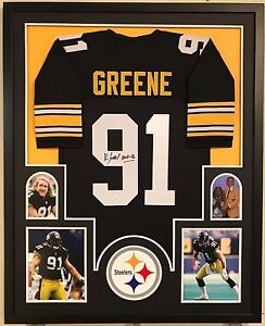 872687b9e Image is loading FRAMED-PITTSBURGH-STEELERS-KEVIN-GREENE-AUTOGRAPHED-SIGNED -INSCR-