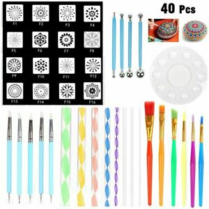 40PC Mandala Dotting Tools Set for Clay Pottery Craft Painting Rocks Art Drawing