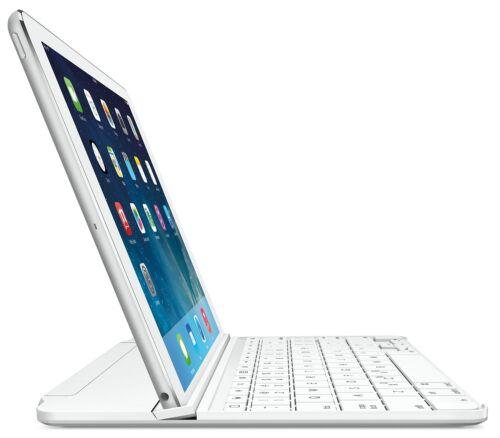 Logitech Magnetic ClipOn Ultrathin Bluetooth Keyboard Case iPad Air Silver White