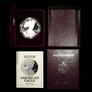 2002 American Silver Eagle Proof OGP Box With COA